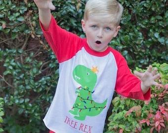 Christmas Shirt for Boys | Dinosaur Christmas Shirt | Tree Rex Christmas Shirt | Boys Christmas Shirt | Christmas Dinosaur Shirt | Trex