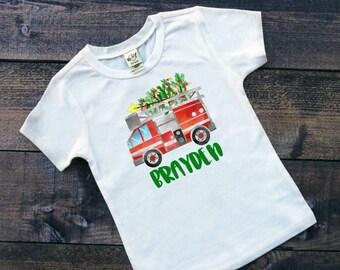 Christmas Shirt for Boys | Boys Christmas Shirt | Kids Christmas Shirt | Fire Truck Christmas Shirt | Christmas Fire Truck Shirt | Fireman