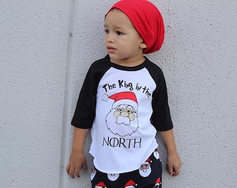 Christmas Shirt for Kids | Kids Christmas Shirt | Funny Christmas Shirt | GOT Christmas Shirt | King in the North | Santa Shirt