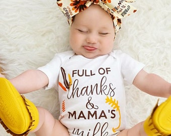 Baby Thanksgiving Outfit | Baby Thanksgiving Bodysuit | Normalize Breastfeeding | Breastfeeding Shirt | Baby Girl Fall Outfit