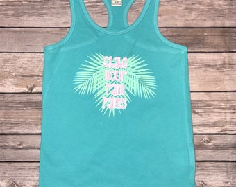 Girls Tank | Palm Shirt | Girls Palm Tank | Palm Trees | Palm Leaves | Girls Summer Tank | Palm Shirt for Girls | Shake your Palm Palms