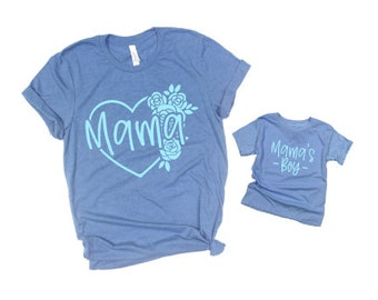 Mommy and Me Shirts | Matching Shirts | Mama | Mama's Boy | Twinning | Mother Son Shirt Sets | Mama and Mama's Boy | Mama's Boy Shirt | Baby