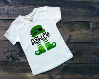 Kids St Patricks Day Shirts | St Patricks Day Shirt for Kids| St Paddys Shirts | St Pattys Shirts | Leprechaun Shirt | Personalized Shirt