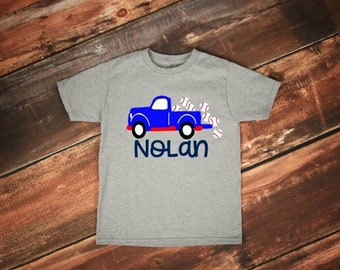 Kids Baseball Shirt | Boys Baseball Shirt | Baseball Name Shirt | Baseball Truck Shirt | Baseball Brother Shirt | Personalized Baseball Shir