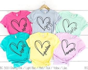 Mother's Day shirts | Mom Shirt | Mom Life Shirt | Grandma Shirt | Gigi Shirt | Mimi Shirt | Nana Shirt, Gifts for Grandma, Mothers Day Gift