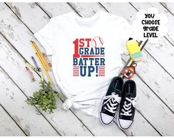 Back to School Shirt, Boys Back to School Shirt, First Day of School, Batter Up School School Shirt, Baseball Back to School Shirt, First Gr