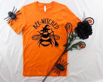 Womens Halloween Shirt, Kids Halloween Shirt, Bee Witched Shirt, Bee Halloween Shirt, Pun Halloween Shirt, Punny Halloween, Bumble Bee Shirt