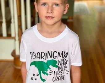 Back to School Shirt | Boys Back to School Shirt | First Day of School l Dinosaur Back to School  | Personalized Pre K Shirt | Boys Pre K