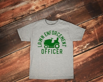 Father's Day Gift | Dad Shirts | Lawn Enforcement Officer | Lawn Guy Shirt | Da Tractor Shirt | Funny Dad Shirt | Lawn Mower Shirt