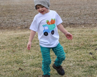 Boys Easter Shirts | Easter Shirts for Boys | Carrot Truck Easter Shirt | Carrot Easter Shirt | Easter Dump Truck | Easter Egg Shirt