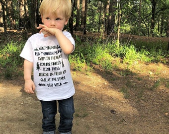 Kids Shirt | Explorer Shirt | Outdoors | Adventure Shirt | Adventurer Shirt | Boys Shirt | Outdoors Shirt | Wild One | Stay Wild | Hiking