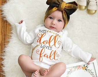 Girls Fall Outfit | Baby Girl Fall Outfit | Girls Fall Shirt | Girls Shirt for Fall | Autumn Inspired Girls Shirt | Baby Girl Bodysuit
