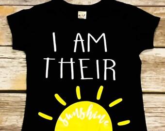 Kids Shirt | Toddler Shirt | You Are My Sunshine | I Am Their Sunshine | Shirt for Kids | Sunshine Shirt
