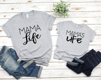 Mommy and Me Shirts | Matching Shirts | Mama | Mama Life | Mama's Life | Mother Son Matching Shirts | #momlife | Mother's Day Gifts