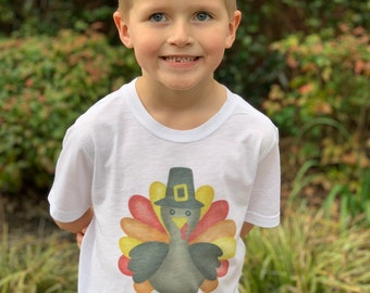 Boys Thanksgiving Shirt | Personalized Thanksgiving Shirt | Baby Boy Thanksgiving Outfit | Boys Turkey Shirt | Baby Boy Fall Outfit