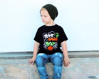 Boys Halloween Shirt | Dinosaur Halloween Shirt | Trick Rawr Treat | Halloween Shirt for Boys | Halloween Dinosaur Shirt | Kids Halloween