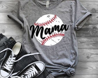 Baseball shirts | Baseball Mom Shirt | Baseball Shirts for Women | Game Day Shirt |  Vintage Tee | Baseball Grunge Tee | Baseball Mama | Bas