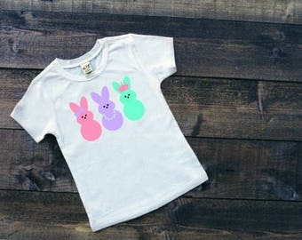 Girls Easter Shirts | Easter Shirts for Girls | Peeps Easter Shirt | Baby Girl Easter Shirt | Pastel Bunniss | Peeps | Girls Easter Outfit