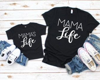 Mommy and Me Shirts | Matching Shirts | Mama | Mama Life | Mama's Life | Mother Daughter Matching Shirts | #momlife | Mother's Day Gifts