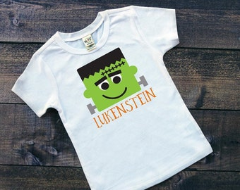 Boys Halloween Shirt | Boys Personalized Halloween Shirt | Kids Halloween Shirt | Frankenstein Shirt | Kids Monster Shirt | Halloween Shirt