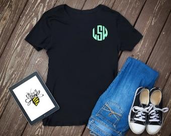FLASH SALE | Mystery Monogram Shirt | Monogram Shirt | Women's Monogram Shirt | Girls Monogram Shirt | Baby Girl Monogram Shirt | Sale