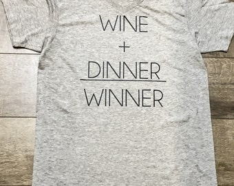Womens Shirt | Ladies Vneck Shirt | Wine Shirt | Funny Tshirt | Soft Feel Vneck