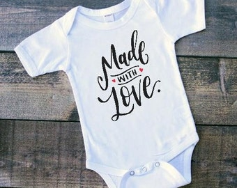 Baby's First Valentine | Baby Girl Valentine Shirt | Baby Boy Valentine Shirt | Made With Love | Coming Home Outfit | Valentine Shirts