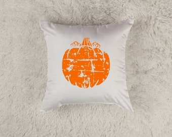 Pumpkin Pillow Cover | Fall Pillow Cover | Distressed Pumpkin Throw Pillow Cover | Fall Home Decor | Pumpkin Decor |  Pumpkin Throw Pillow
