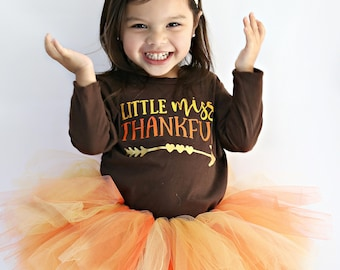 Thanksgiving Shirt for Girls | Girls Thanksgiving Shirt | Baby Girl Thanksgiving Outfit | Thankful | Little Miss Thankful Shirt