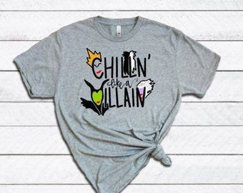 Chillin Like a Villain Shirt | Womens Halloween Shirt | Villains Shirt | Halloween Shirt for Women | Villain Squad | Maleficent | Evil Queen