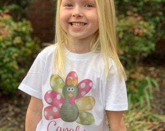 Girls Thanksgiving Shirt | Personalized Thanksgiving Shirt | Baby Girl Thanksgiving Outfit | Girls Turkey Shirt | Baby Girl Fall Outfit