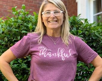 crazy thankful shirt |  thankful shirt | womens thanksgiving shirt