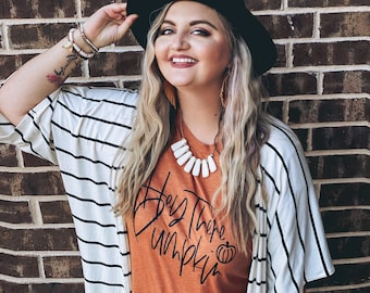 Womens Fall Shirt, Hey There Pumpkin Shirt, Fall Shirts for Women, Thanksgiving Shirts, Boho Fall Shirt, Pumpkin Shirts, Hello Pumpkin