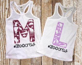Girls Tank   Zoo Shirt   Zoo Crew   Personalized Zoo Shirt   Animal Shirt   Tank Top for Girls   Shirts for Zoo Trip