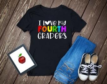Teacher Back to School Shirt | Teacher First Day Shirt | Personalized Teacher Shirt | Teacher Name in Pencils Shirt | First Day Teacher Gift
