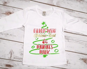 Breastfeeding Shirt | Girls Christmas Shirt | Normalize Breastfeeding | Baby Girl Christmas Shirt | Baby Girl Breastfeeding Shirt | Milk