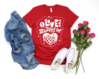 Kids Valentine Shirt   Girls Valentine Shirts   I Love You a Waffle Lot   Waffle Valentine Shirt   Food Valentine   Valentine Shirts for Kid