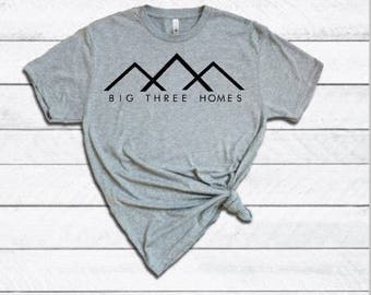 This is Us Shirt | Big Three Homes Shirt | Womens Shirt | Soft Grey Shirt