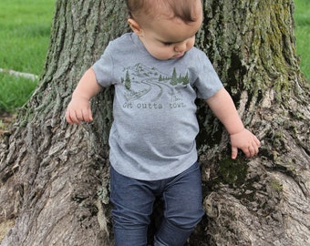 Kids Shirt | Get Outta Town| Adventure Shirt | Adventurer Shirt | Boys Shirt | Outdoors Shirt