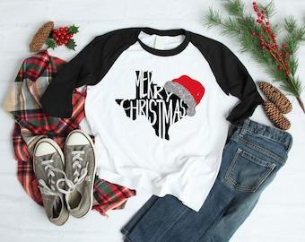 Christmas Shirts | Womens Christmas Shirt | Christmas Shirt for Girls | Texas Christmas Shirt | Merry Christmas Y'all |