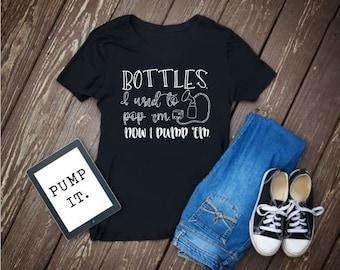 Breastfeeding Shirt | Pumping | Funny Breastfeeding Shirt | Pumping Mom | Breastfeeding Mom | Pop Bottles | Normalize Brastfeeding |
