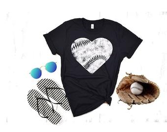 Baseball shirts, Distressed Baseball ShirtBaseball Shirts for Women, Game Day Shirt, Vintage Tee, Baseball Grunge Tee, Team Spirit Shirt,