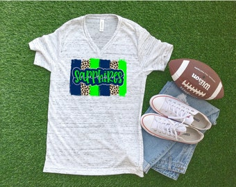 Eaton Sapphires Shirt, School Spirit Shirt, Sapphires Shirt, Eaton, Dance Team Shirt, Drill Team Shirt