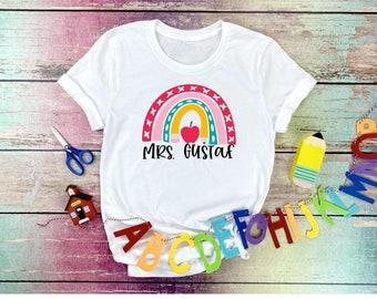 Teacher Back to School Shirt, Teacher First Day Shirt, Difference Maker Shirt, Teacher Gift, school supply rainbow Shirt, personalized