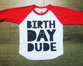 Boys Birthday Shirt | Birthday Dude | Birthday Shirt For Boys | Animal Birthday