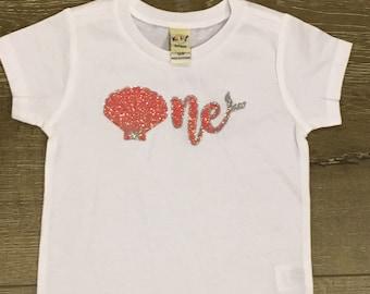 Mermaid Birthday Shirt | First Birthday Shirt | Mermaid Party Shirt | Girls First Birthday Shirt