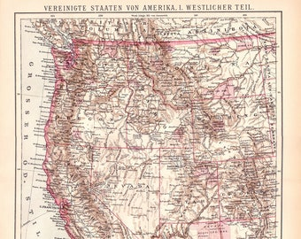 West Coast Map Etsy
