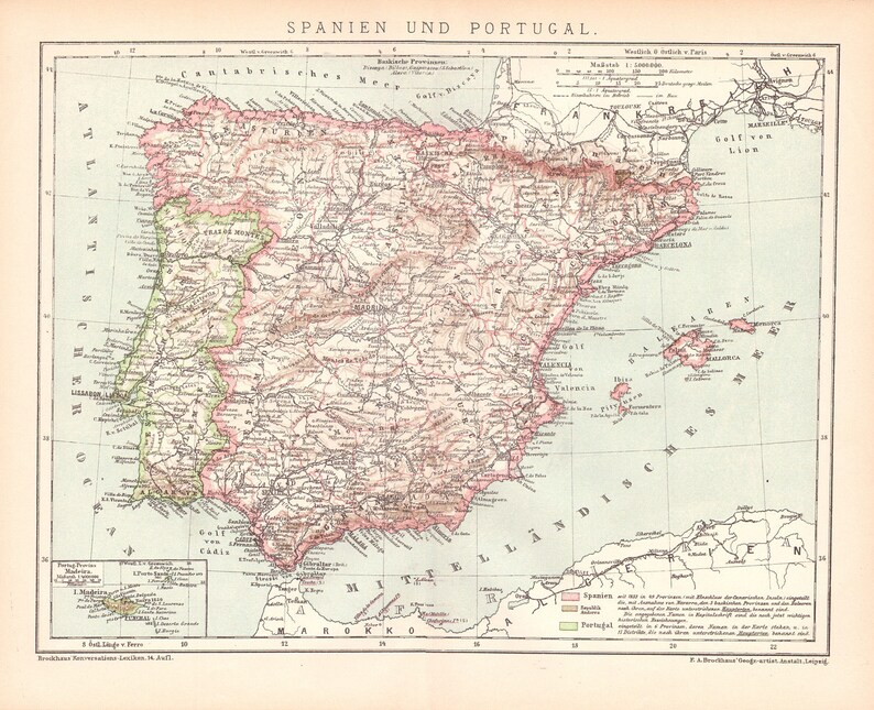 Map Of Portugal And Spain Detailed.Antique Map Of Spain And Portugal From 1890 Spain Portugal Spain Map Portugal Map Map Of Spain Map Of Portugal Spanish Map
