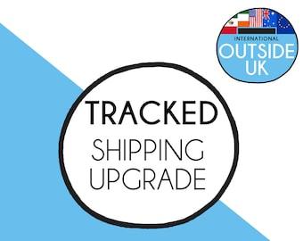 Rest of world guaranteed shipping, ooak, last minute gift, handmade gift, tracked shipping, tracked post, outside UK