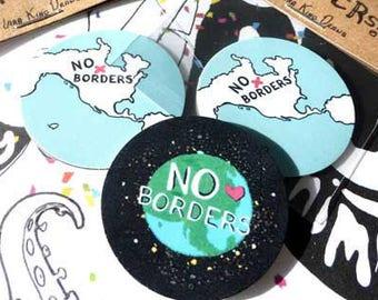 No Ban No Wall Anti Trump sticker anti gun mexican pride pro immigrant mexico cinco de mayo gift resistance sticker world map art decor